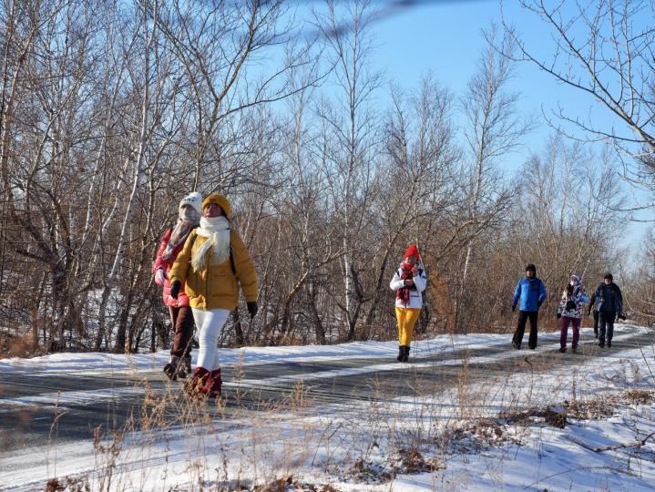 冰天雪地里感受徒步乐趣 2020徒步中国·全国徒步大会(五大连池风景区站)闭幕